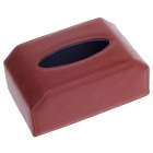 PU Leather Car Tissue Case - Reddish Brown