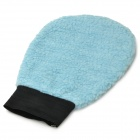 Dual-Side Soft Car Waxing Washer Cleaner Glove - Blue