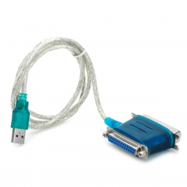 USB to DB25 / CN36 IEEE1284 Serial Port Printer Cable - Silver + Green (95cm)