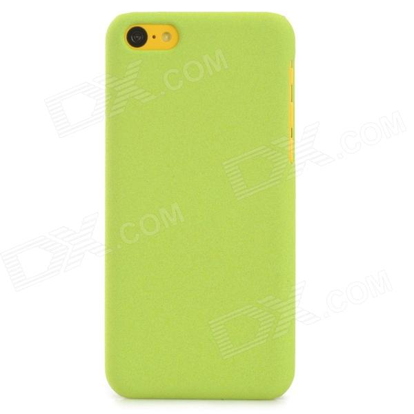 Quicksand Style Protective PC Back Case for Iphone 5C - Green