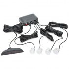 XY-5202 4-Sensor Car Ultrasonic Backup / Parking Sensor System - Black + White