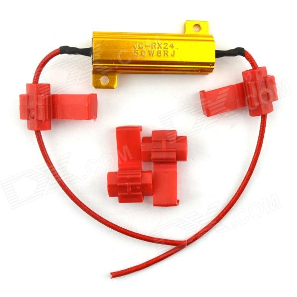 Jtron 03100400 Automotive LED Lights Decoding Resistor - Golden 2pcs cf18 kt led flasher 8 pin adjustable relay module fix auto car signal error flashing blinker 81980 50030 06650 4650 150w