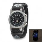 TVG km1209 Outdoor Sports Cloth Band LED Digital Wrist Watch - Grey + Black