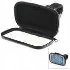 M08 360 Degree Rotation Scooter Bracket w/ PU Leather Waterproof Bag for Samsung i9500 - Black