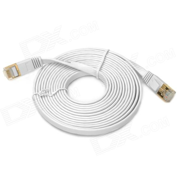 CAT-7 RJ45 Male to Male High Speed Transmission Network Cable - White (3m)