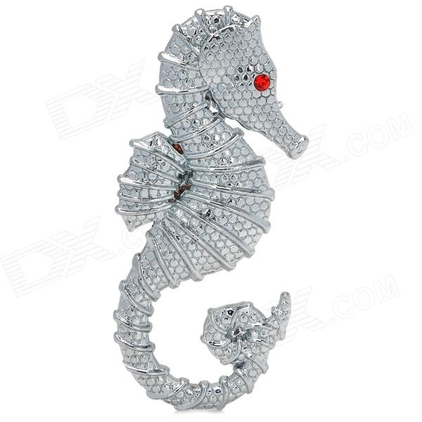 AiShangChe 3D Seahorse Style Alloy Car Decorative Sticker - Silver diy gecko style car motorcycle decorative zinc alloy sticker green