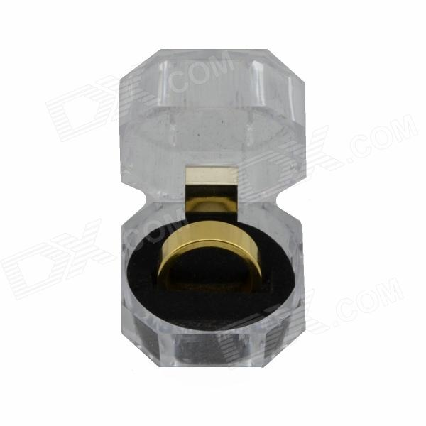 Golden Magnetic Ring for Magic Trick (1.9cm Inner-Diameter)