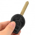 Replacement Car 4-Button Remote Key Head + Case for Nissan Sunny - Black + Beige