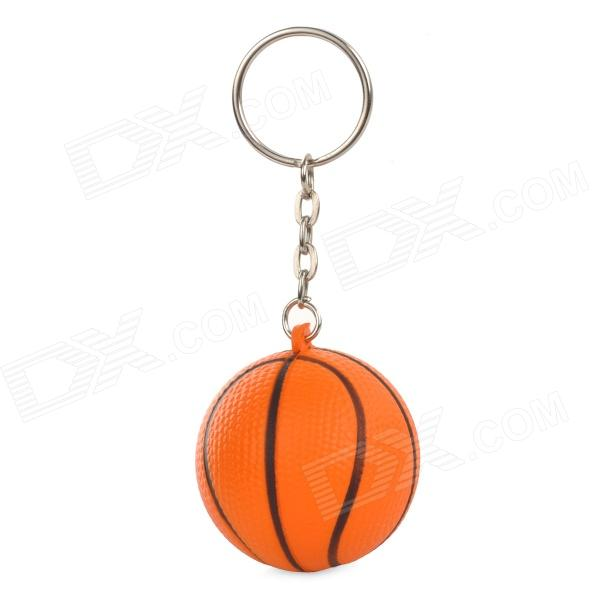 Mini Silicone Basketball Pendant Keychain - Orange + Black kuroko s basketball kuroko no basuke mini pvc figure toys with keychain 9pcs set kbfg012