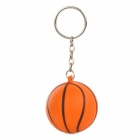 Mini Silicone Basketball Pendant Keychain - Orange + Black