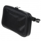 Buy M07 360 Degree Rotation Bracket Waterproof PU Leather Bag i9200 6.3 inch Mobile Phone - Black