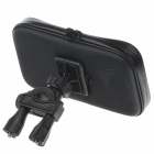 "M07 360 Degree Rotation Bracket w/ Waterproof PU Leather Bag for i9200 6.3"" Mobile Phone - Black"