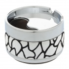 Fashionable Rotary Style Top Aluminium Alloy + Flannelette Ashtray - Silver + Black