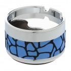 Fashionable Rotary Style Top Aluminium Alloy+ Flannelette Ashtray - Silver + Blue x Black