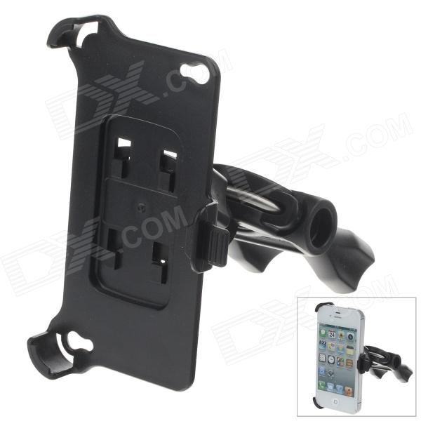 M07 360 Degree Rotation Scooter Bracket for Iphone 4 / 4S - Black
