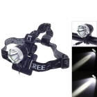 Cree XM-L T6 900lm 3-Mode White Bicycle Light & Headlight - Black + Silver (4 x 18650)