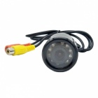 XY-1228 Waterproof Universal Wired Car Rear View Camera w/ 9-IR LED Night Vision - Black