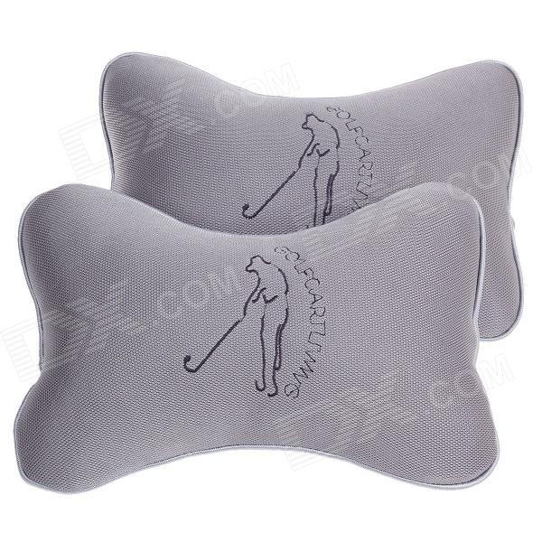 Biety Vehicle Car Seat Head Neck Rest Cushion Pillows - Grey (2PCS)