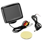"XY-2063 3.5"" TFT LCD 0.53W Car Rear-view System Mirror Monitor - Black"