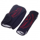 Biety Decoration Cover Sheath for Automobile Shifter + Handbrake - Black + Red (Pair)