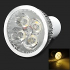 TB-PJA-DB-4W-GU10-LC-NBG GU10 4W 150lm 3500K 4-LED Warm White Light Bulb - White + Silver