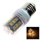 E27 5W 450lm 3500K 31-SMD 5050 LED Warm White Light Lamp Bulb - White (AC 110~120V)