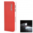 iFans EL-PB-12 11200mAh Dual-USB Mobile Power Source w/ LED Light for Samsung + More - Red + White