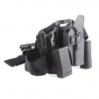 War-5 Quick Draw Four-piece Set Gun Holster for G17 Gun - Black