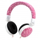 Gorsun GS-C770 Headband Headphone w/ Microphone / Remote for HTC + More - Purple + White + Red