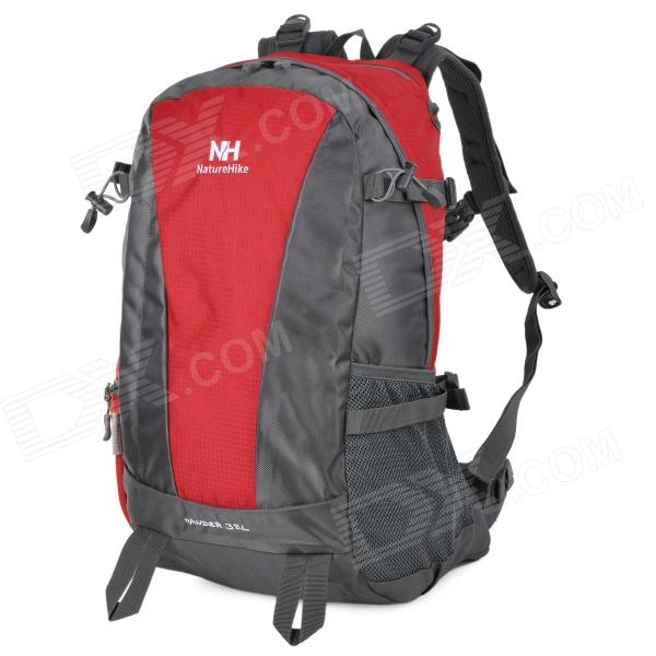 Naturehike-NH Convenient Outdoor Sporty Water Resistant 420D Nylon Backpack - Red + Gray (38L) new arrival 38l military tactical backpack 500d molle rucksacks outdoor sport camping trekking bag backpacks cl5 0070