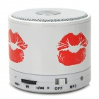 S10 Bluetooth V3.0 Speaker w/ Handsfree / TF Card Slot - White + Red