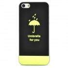 Ultra Thin Umbrella Pattern Glow-in-the-Dark Back Case for Iphone 5 - Black + Green