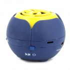 3W Mini Retractable tragbare 2-CH Speaker w / TF / 3.5mm / Mini USB - Gelb + + Deep Blue Light Blue