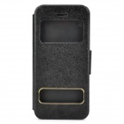 Silk Style Display Window Protective PU Leather for Iphone 5C - Black
