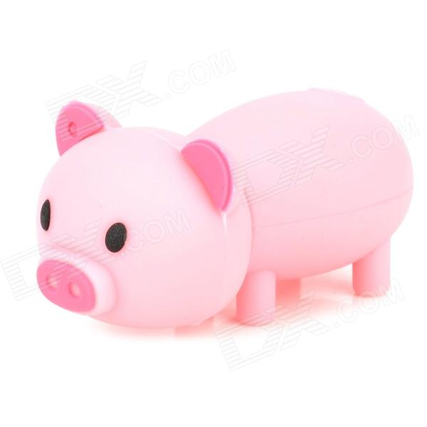999 Creative Mini Pig Style USB 2.0 Flash Drive - Pink + Black (4GB)