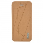USAMS Protective PU Leather + PC Case Cover for Iphone 5C - Khaki