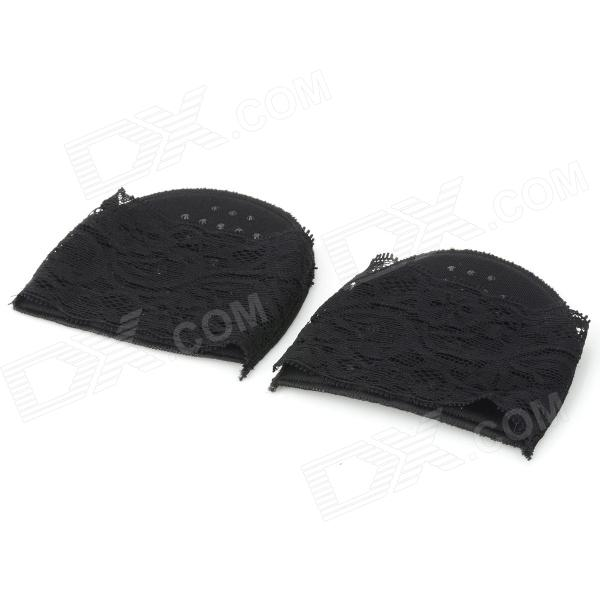 Thicken Protective High Heels Shoes Anti-slip Lace Half Sole Pad -Black protective outdoor war game military skull half face shield mask black