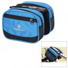 Yongruih Handy GB003 Water Resistant 500D Polyester Fiber Saddle Bag for Bicycle - Black + Blue