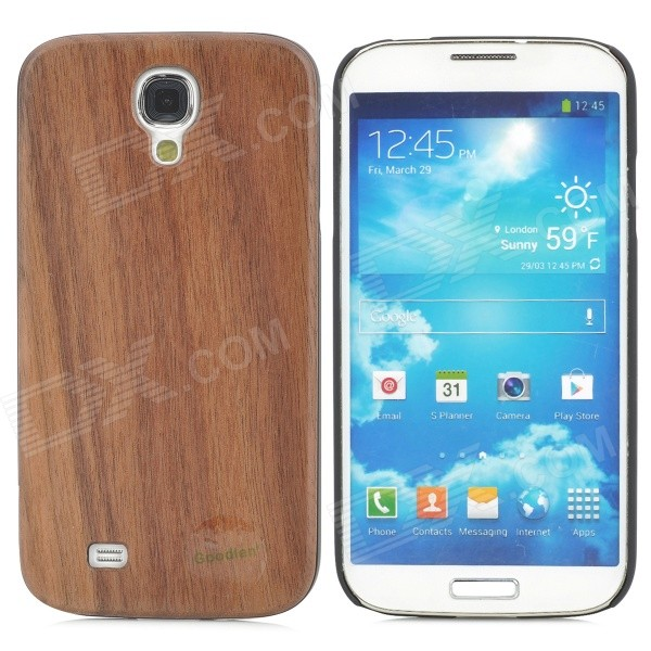 Goodlen M-S402 Protective Walnut Hard Back Case for Samsung Galaxy S4 i9500 - Brown