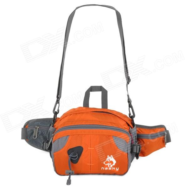HASKY CY-6257 Multifunctional Outdoor Nylon Waist Bag for Hiking - Orange + Gray термосумка премиум класса pv cool bag 38 a bk 6257