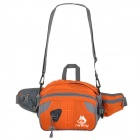 HASKY CY-6257 Multifunctional Outdoor Nylon Waist Bag for Hiking - Orange + Gray
