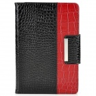 CZ-mini Crocodile Skin Pattern PU Case + Bluetooth v3.0 59-Key Keyboard for Ipad MINI - Black + Red