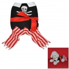 Pirate Style Dacron Clothes for Dog Apparel Pet Clothes - Black + White + Red