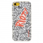 Kuzoom K20B0504 Riot Pattern Protective PC zurück Fall für das iPhone 5 - Black + Red + White