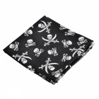 Seamless Polyester Fiber Turban Head Scarf - Black + White