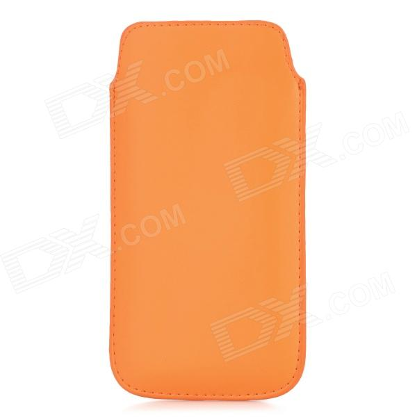 Protective PU Leather Pouch Bag Case for Samsung i9295 - Orange