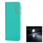 iFans EL-PB-12 11200mAh Dual USB Mobile Power Quelle w / LED Light for Samsung + More - Grün + Weiß