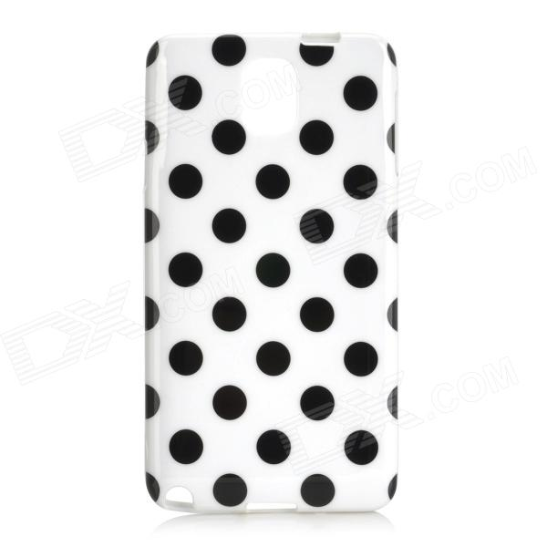 Polka Dot Style Protective TPU Back Case for Samsung Galaxy Note 3 N9000 - White + Black s style protective pc back case for samsung galaxy note 3 n9000 white