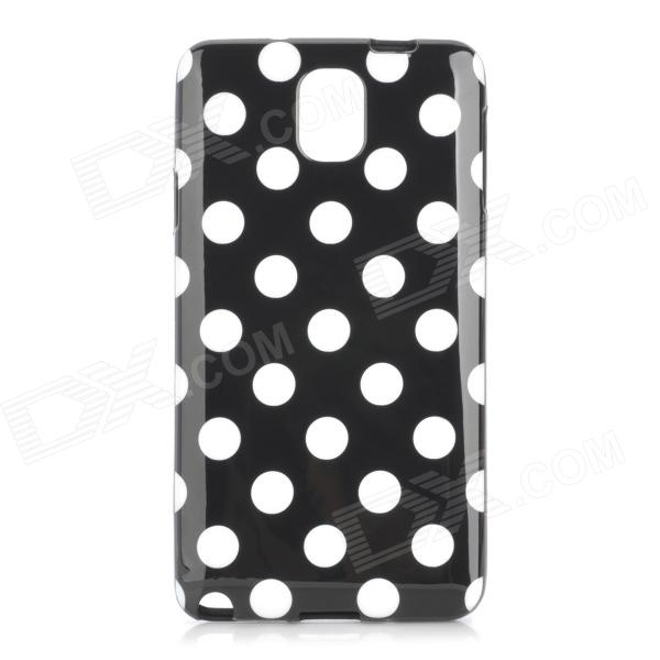 Polka Dot Style Protective TPU Back Case for Samsung Galaxy Note 3 N9000 - Black + White s style protective pc back case for samsung galaxy note 3 n9000 white