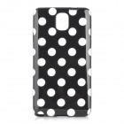 Polka Dot Style Protective TPU Back Case for Samsung Galaxy Note 3 N9000 - Black + White
